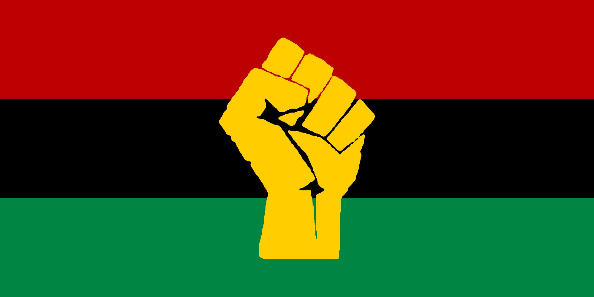 Black power flag.