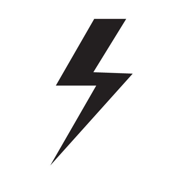 Curved Lightning Bolt Clipart.