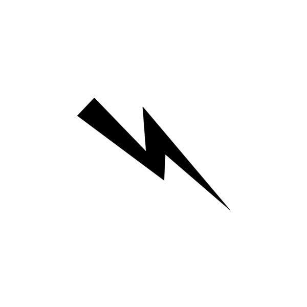 Black Lightning Bolt clip art.