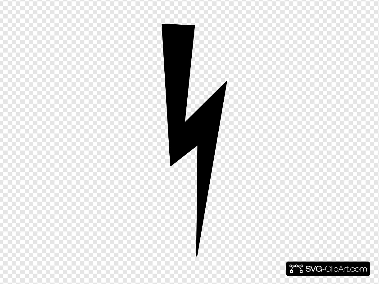 Black Lightning Bolt Clip art, Icon and SVG.