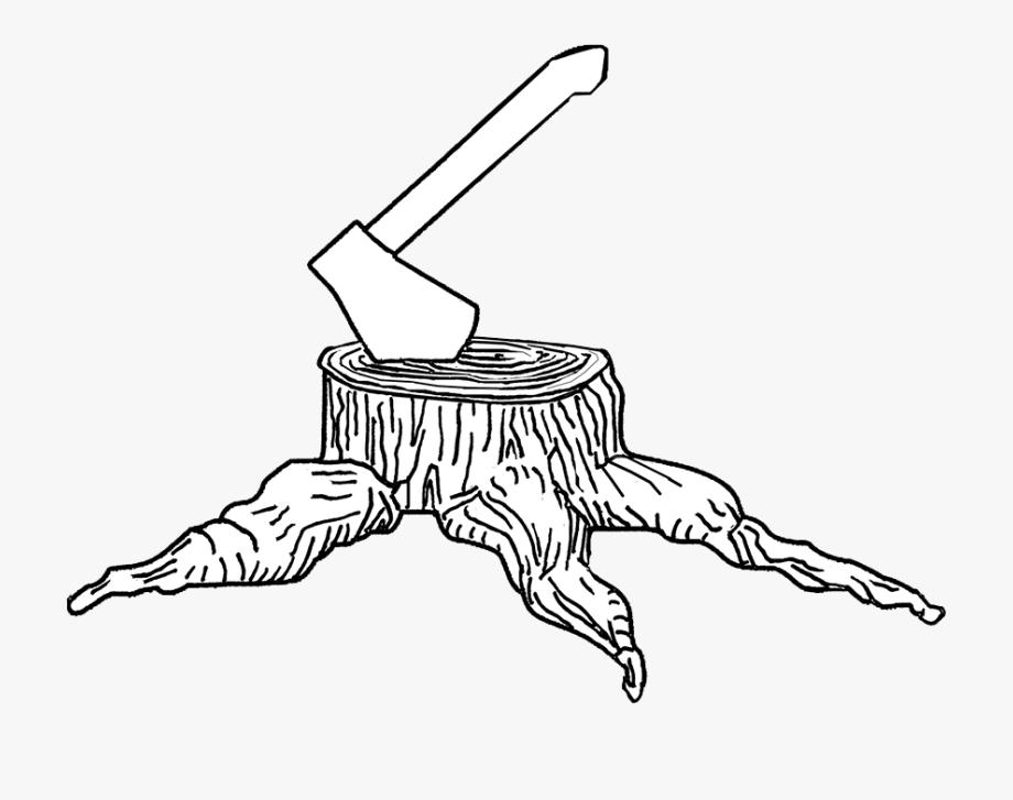 Clip Art Free Stump Clipart Draw Tree.