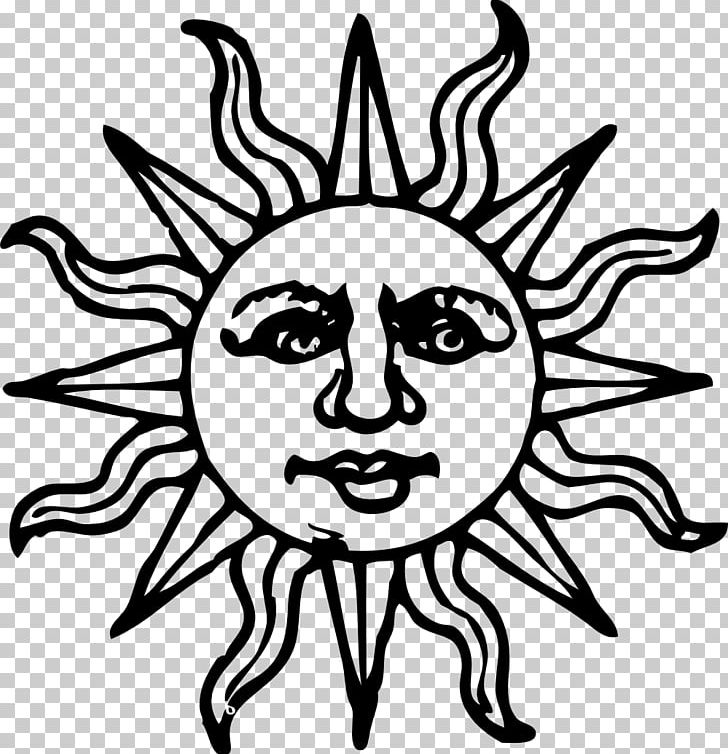 Face Smiley Sun PNG, Clipart, Art, Artwork, Black, Black And.