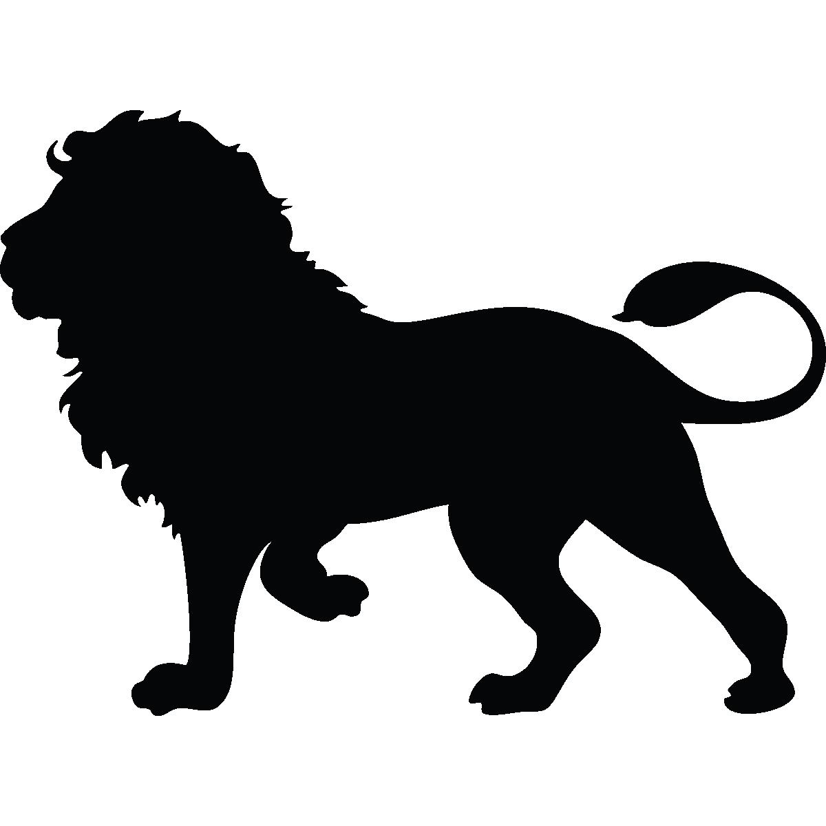 Lion Silhouette Cougar Clip art.