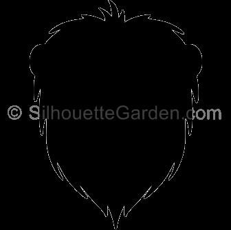 Lion Head Silhouette.
