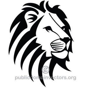 10057 lion head silhouette clip art.