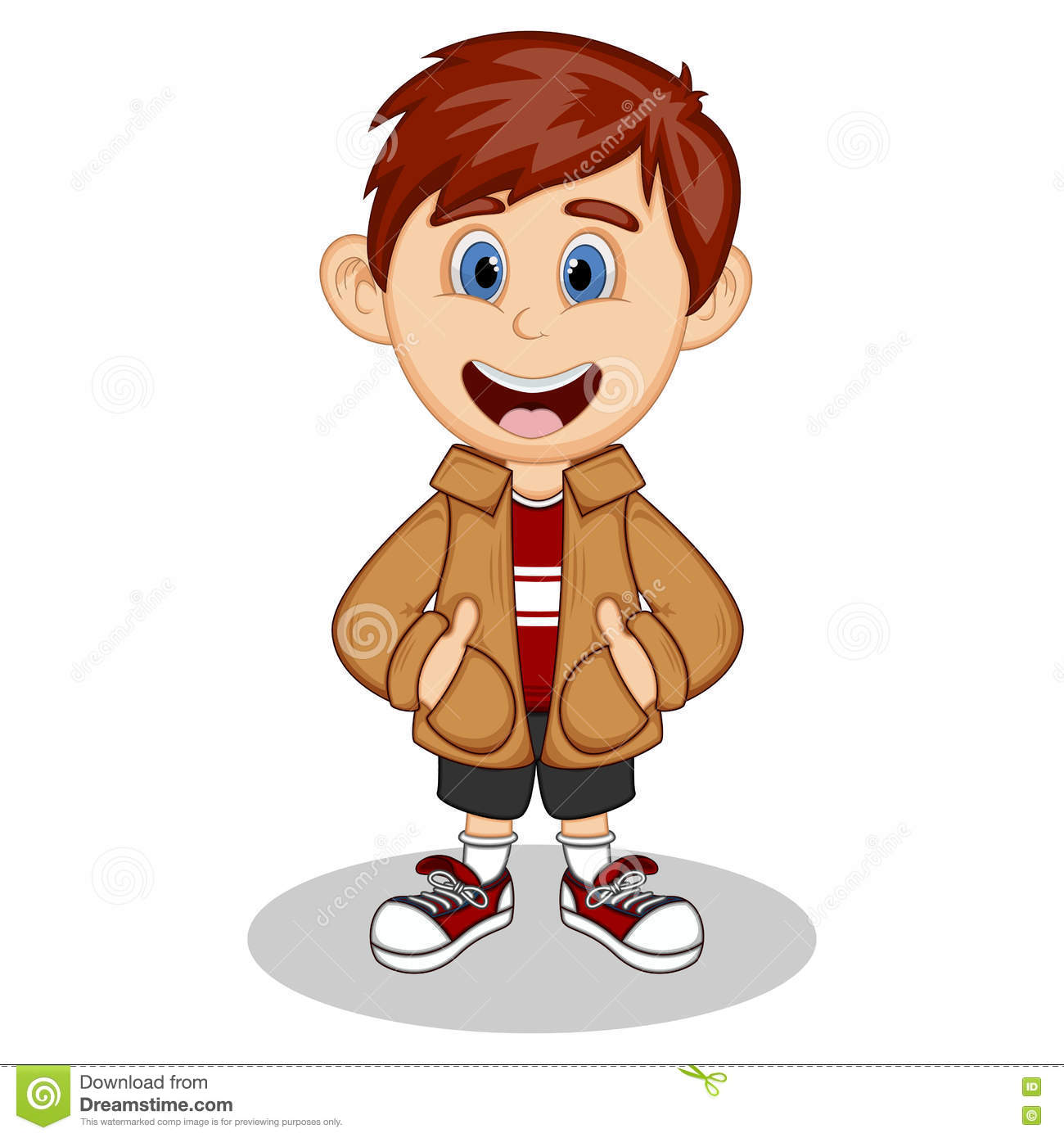 Boy Wearing Jacket Clipart.