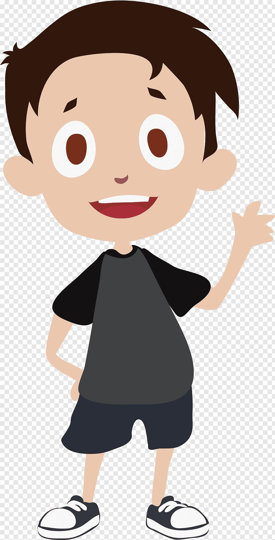 Boy character illustration, Thumb Human behavior Cheek.