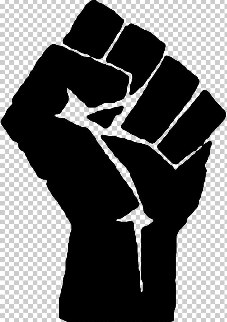 Raised Fist Black Power Black Panther Party African American.