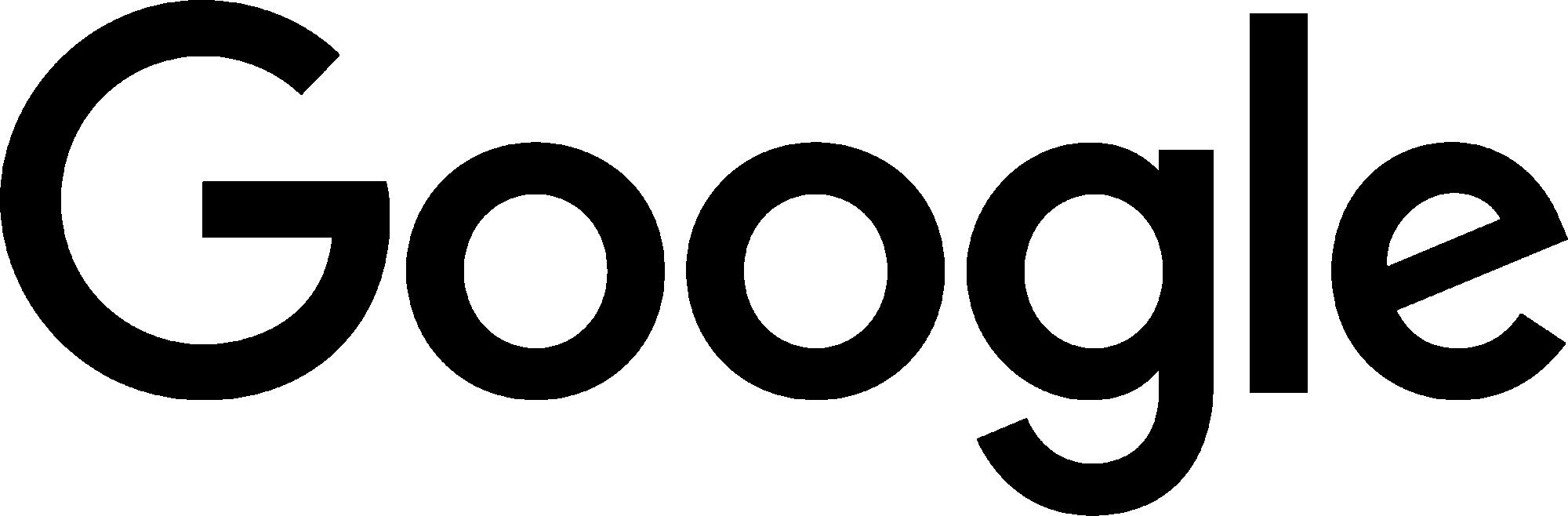 Google black logo PNG.