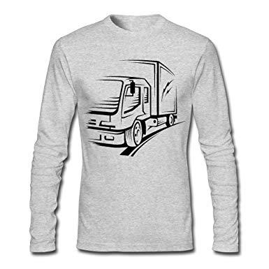 Amazon.com: LSNQCPM Men\'s Truck Clipart Black Long.