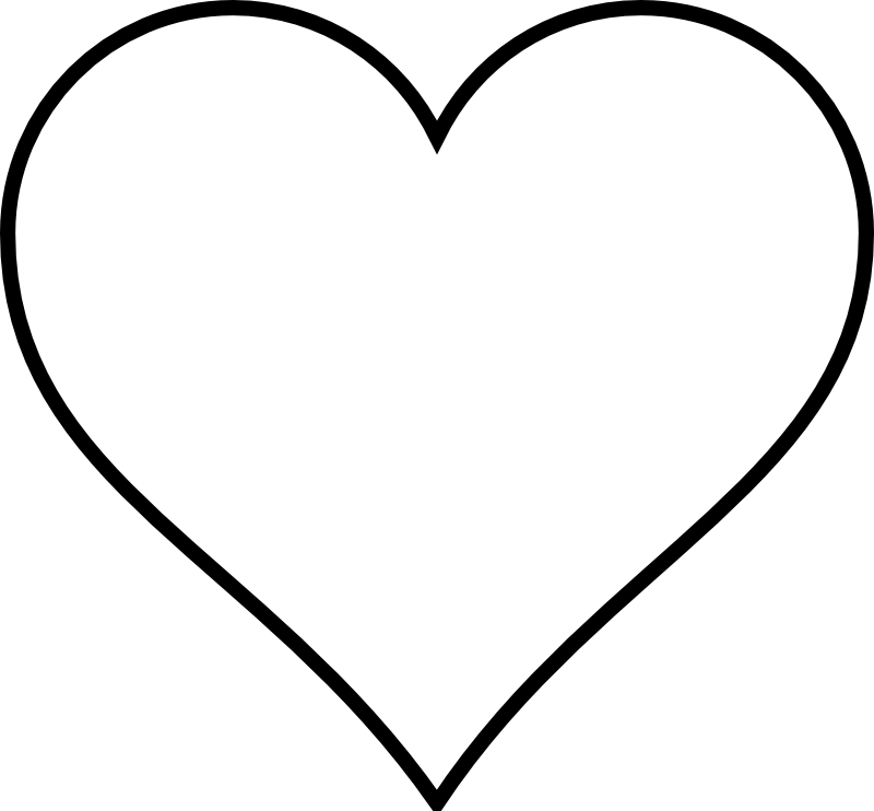 Large Heart Template Printable.