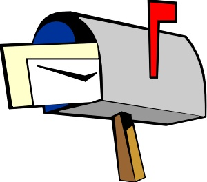 Mailbox black mail clip art at clker vector clip art.
