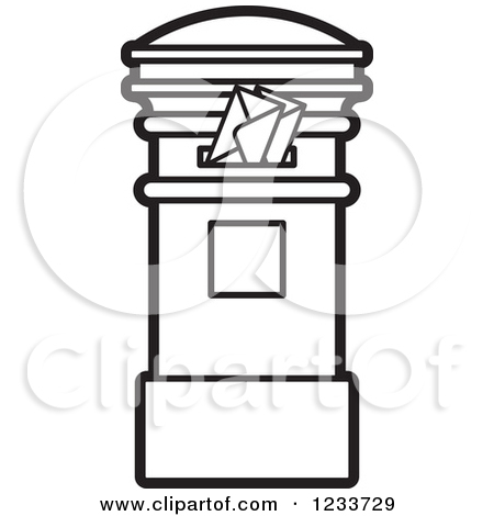 Black mail box clipart #17
