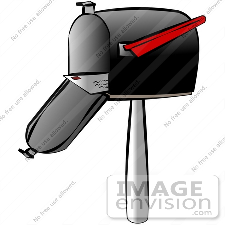 Mail in an Open Mailbox Clipart.