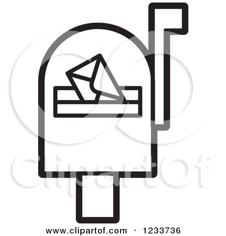 Black mail box clipart #18