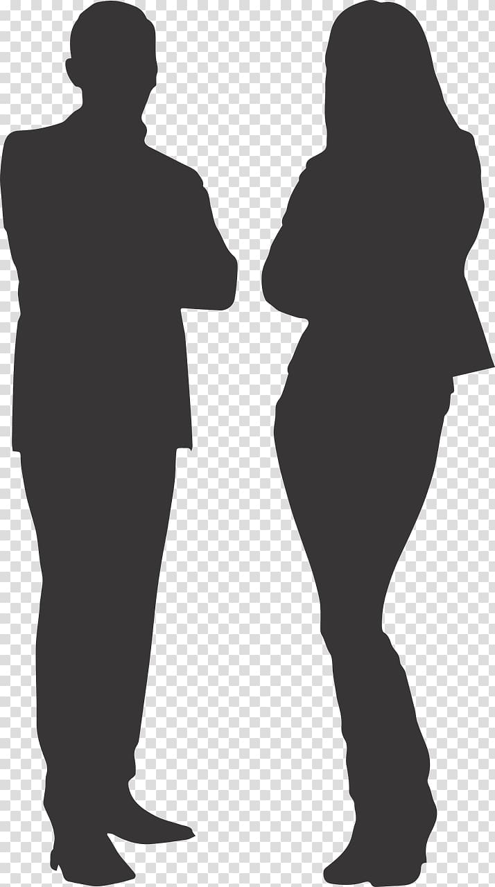 Silhouette Woman, men and women transparent background PNG.