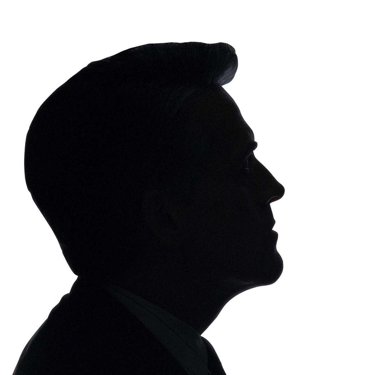 Male Face Silhouette.