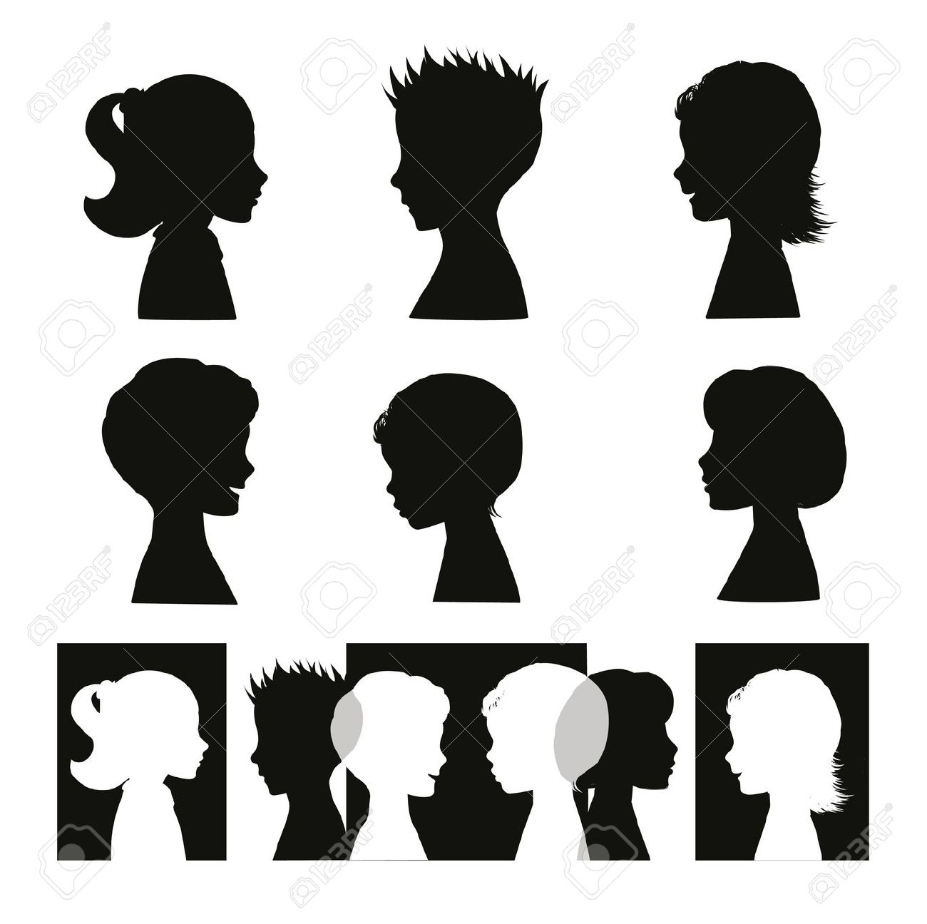 7,114 Side Face Stock Vector Illustration And Royalty Free Side.