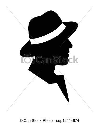 Black Man Clipart Black Side Face.