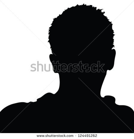 Black Man Clipart Black Side Face.
