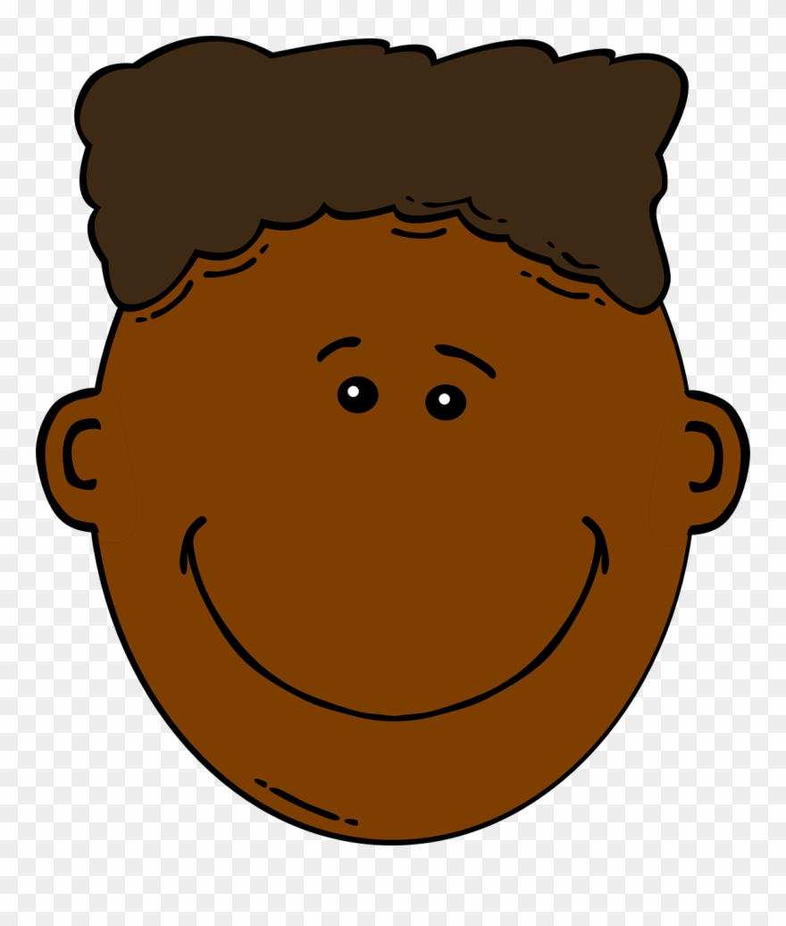 Brown Hair Clipart Boy Head.