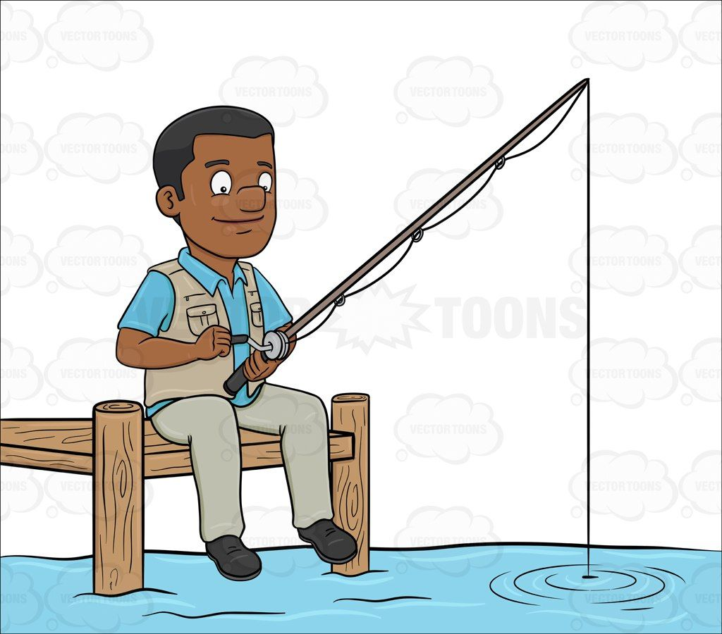 Fisherman clipart dock fishing, Fisherman dock fishing.