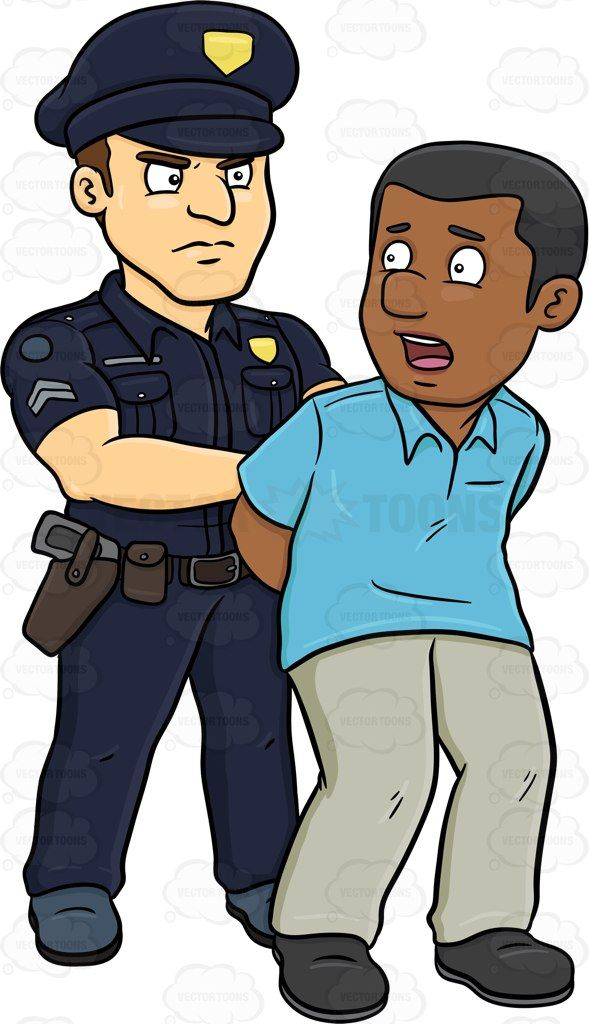 Man Getting Arrested Clipart.