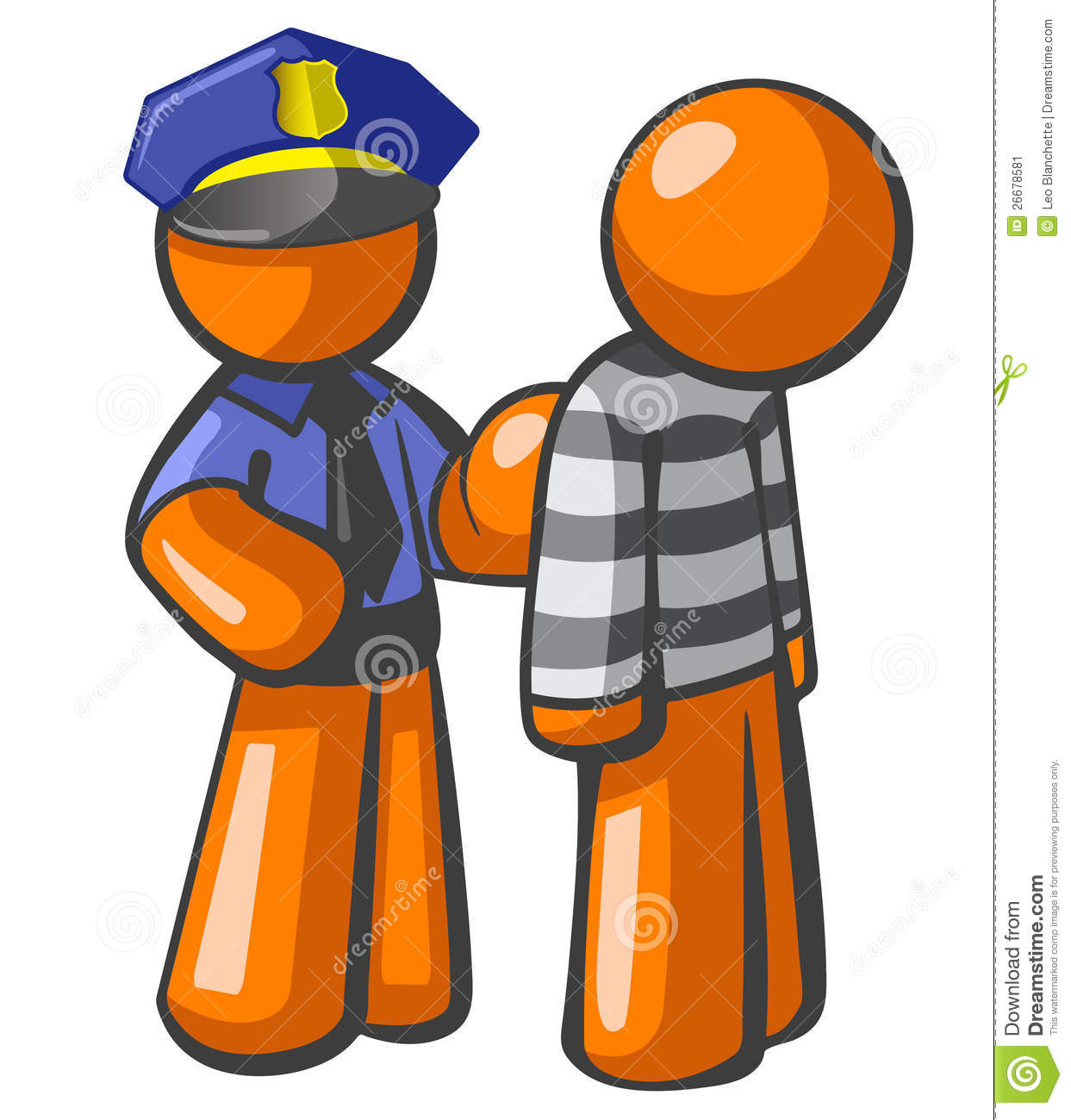 Person Getting Arrested Clipart.