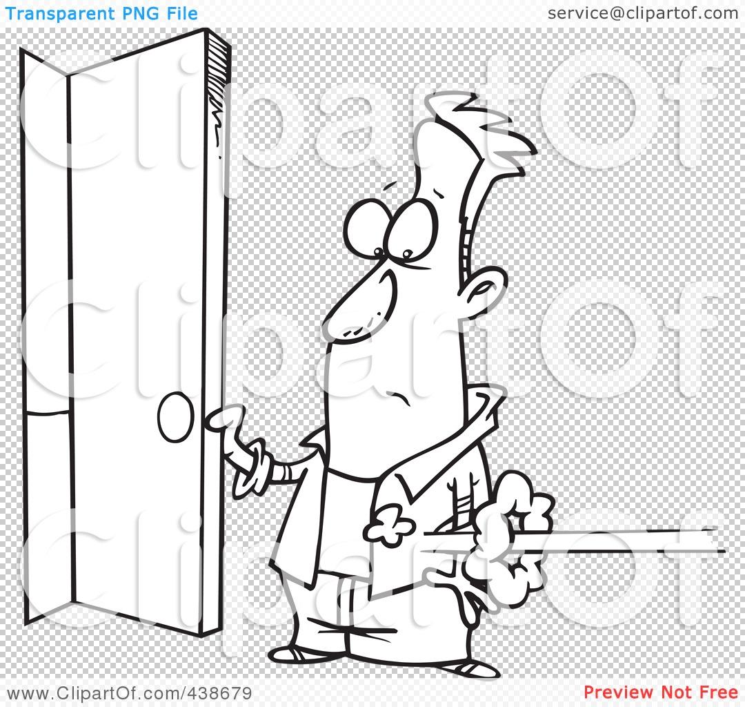 Showing post & media for Cartoon open door black.