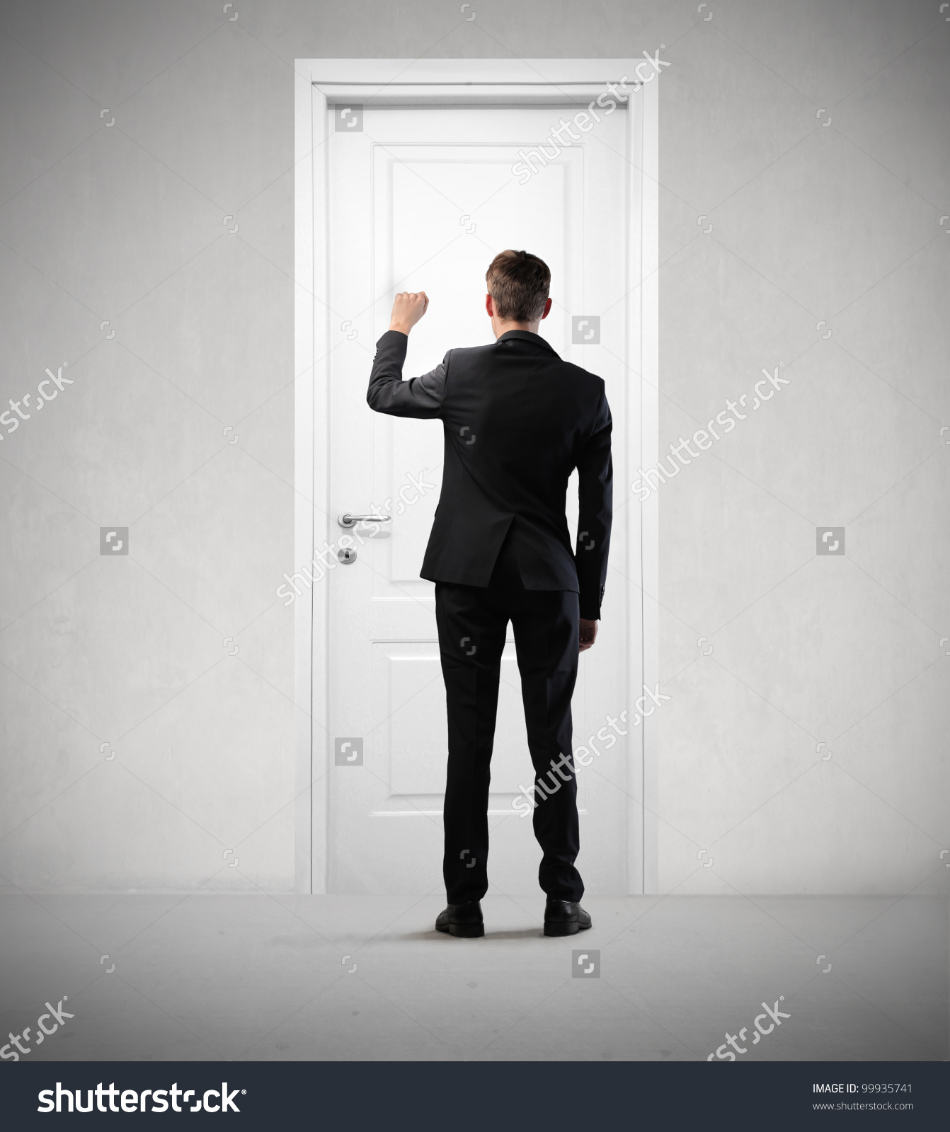 Black Man Knocking On Door Clipart.