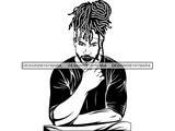 Afro Man Rasta Dreads Hairstyle Black Male Men SVG .JPG .EPS .PNG Vector  Clipart Cricut Circuit Cut Cutting.
