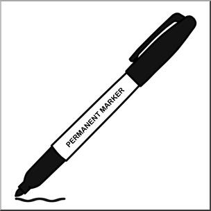 Clip Art: Permanent Marker Black I abcteach.com.