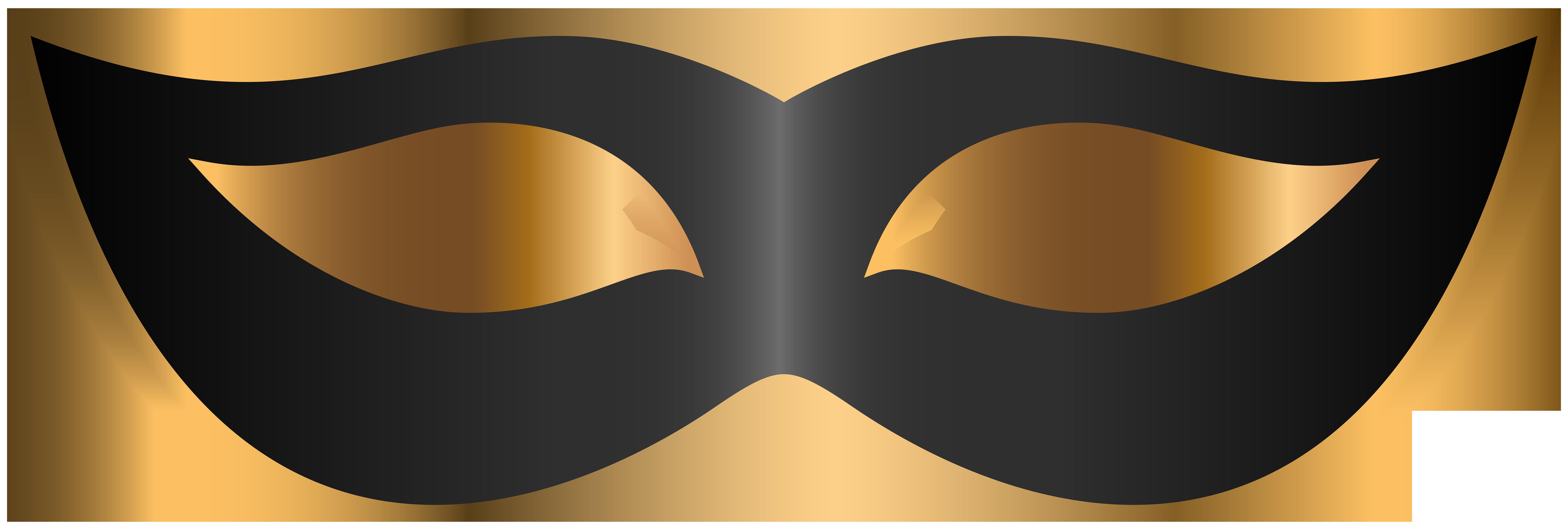 Black Mask Clipart.