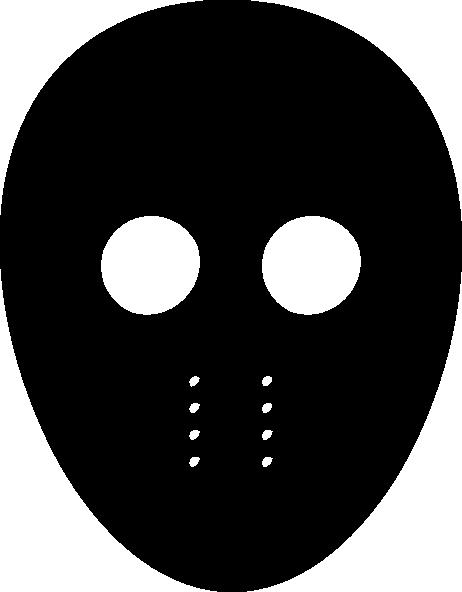 Black mask clip art at vector clip art.