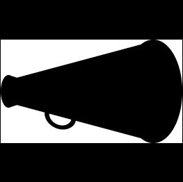 Megaphone Silhouette FREE SVG.