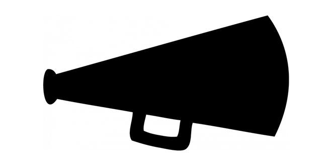 Download High Quality megaphone clipart black Transparent.