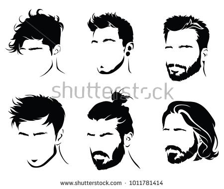 Silhouette Hair Men.