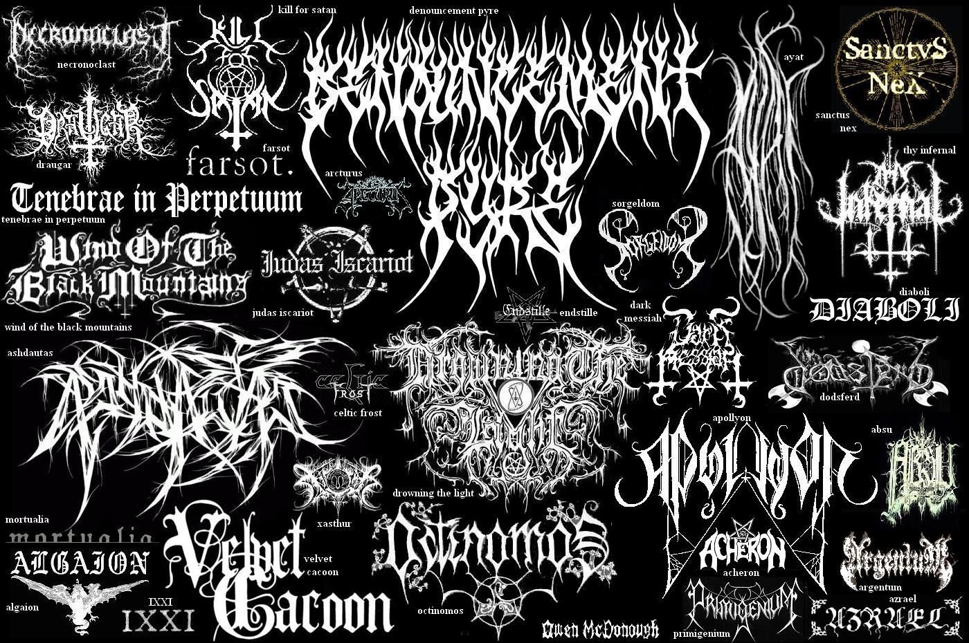 Black Metal logos. in 2019.