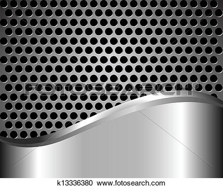 Clipart of Background with metal grid k13336380.