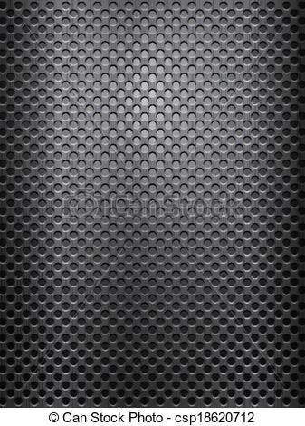 Vector Clip Art of black metal grid vertical.