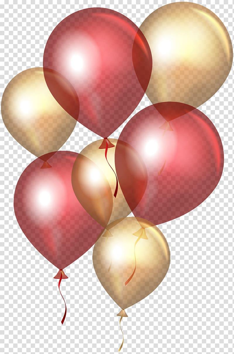 Maroon and gold balloon illustration, Balloon Gold , Red.
