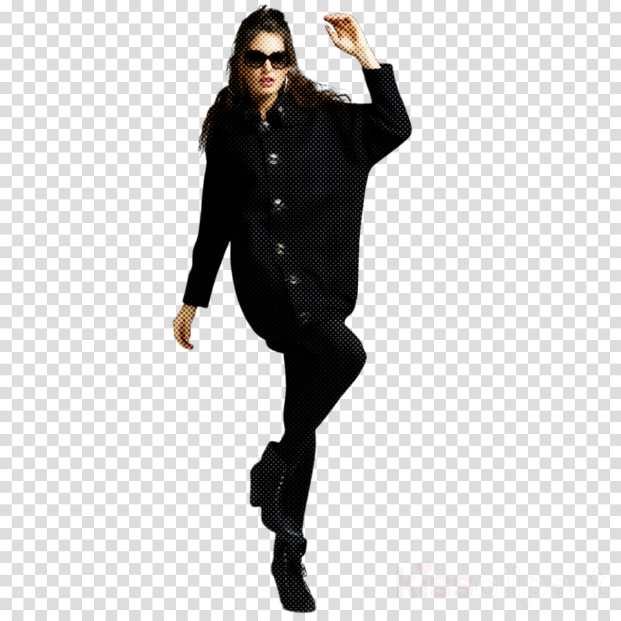 clothing black leggings standing fashion model clipart.