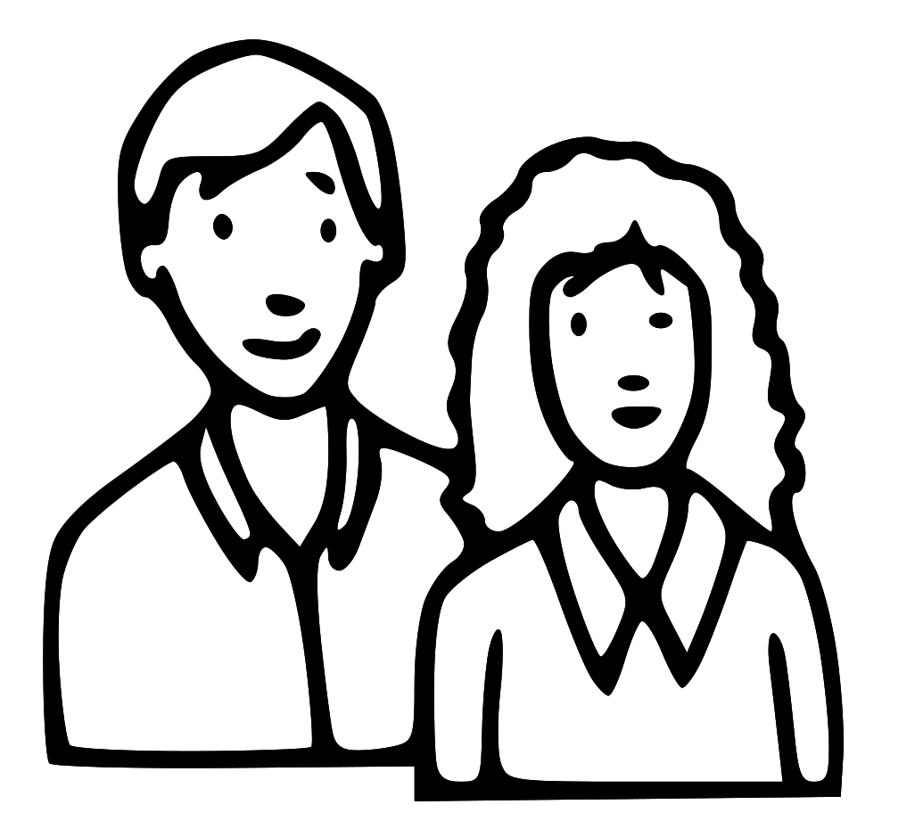 Mom And Dad Clipart Black And White.