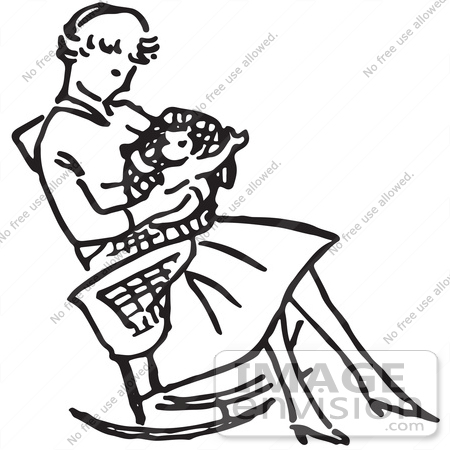 12289 Mother free clipart.