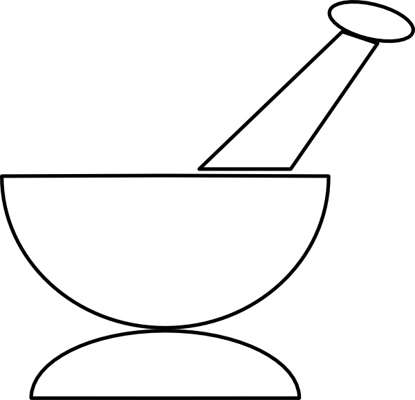 Mortar And Pestle clip art Free vector in Open office.
