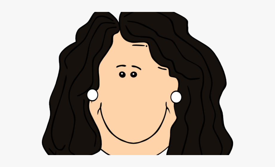 Long Hair Clipart Black Mother.