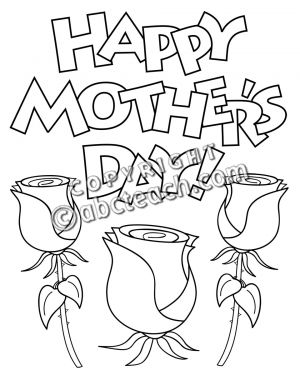Mother's Day Clip Art Black.