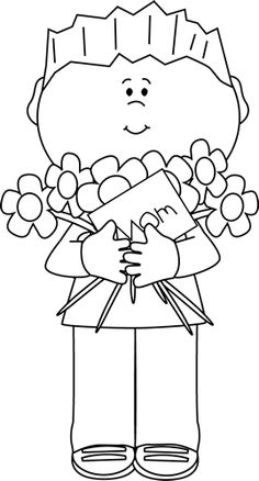 Free Clipart Mothers Day Black And White.