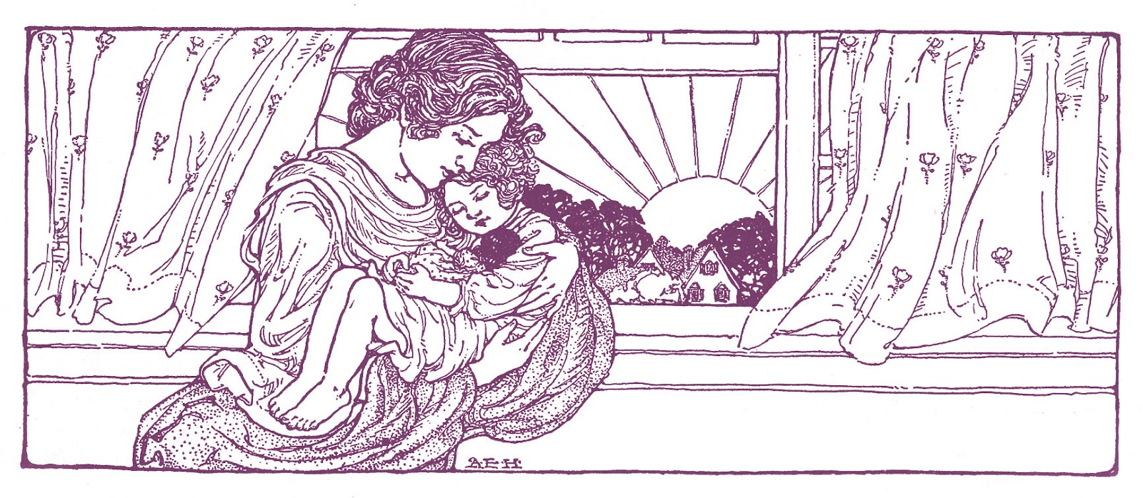 Vintage Mother's Day Clip Art.