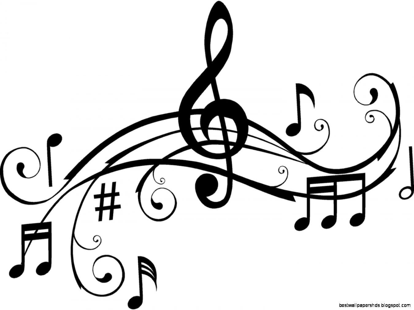 Music Notes Clipart Black And White Clipart Panda Free.